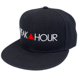 'PEAK▲HOUR' Snapback Cap [BLACK]