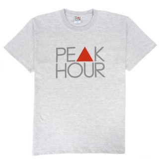 'PE▲K HOUR' T-Shirt [ASH GRAY]