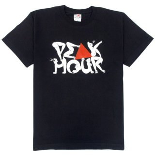 'PE▲K HOUR / 菱沼彩子Model' T-Shirt [BLACK]