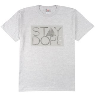 'ST▲Y DOPE-BOX CHROME' T-Shirt [ASH GRAY]