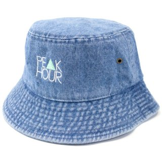 'PE▲K HOUR' Denim BUCKET HAT [LIGHT BLUE]