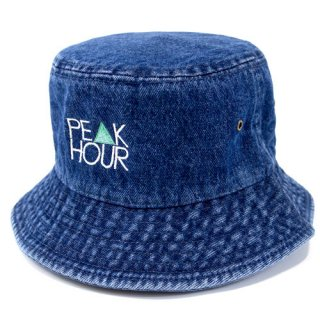 'PE▲K HOUR' Denim BUCKET HAT [INDIGO BLUE]