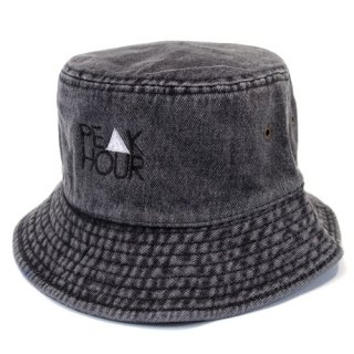 'PE▲K HOUR' Denim BUCKET HAT [BLACK]