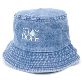 'ST▲Y DOPE' Denim BUCKET HAT [LIGHT BLUE]