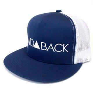 'LAID▲BACK' Mesh Cap [NAVY×WHITE]