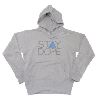 'ST▲Y DOPE BLUE' Pull Parka [HEATHER GRAY]