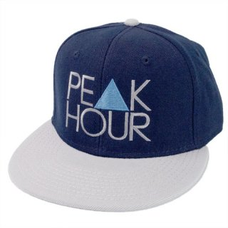 <img class='new_mark_img1' src='//img.shop-pro.jp/img/new/icons22.gif' style='border:none;display:inline;margin:0px;padding:0px;width:auto;' />'PE▲K HOUR BLUE' Snapback Cap [NAVY×GRAY]