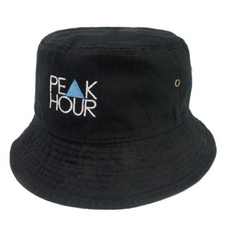 'PE▲K HOUR BLUE' Bucket Hat [BLACK]
