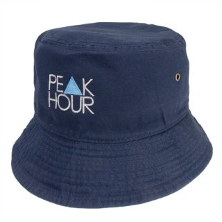 'PE▲K HOUR BLUE' Bucket Hat [NAVY]