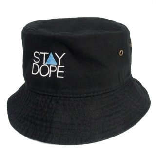 'ST▲Y DOPE BLUE' Bucket Hat [BLACK]