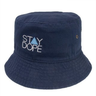 'ST▲Y DOPE BLUE' Bucket Hat [NAVY]