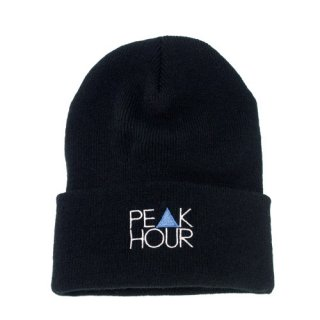 'PE▲K HOUR BLUE' Beanie Cap [BLACK]
