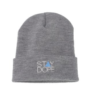 'ST▲Y DOPE BLUE' Beanie Cap [HEATHER GRAY]