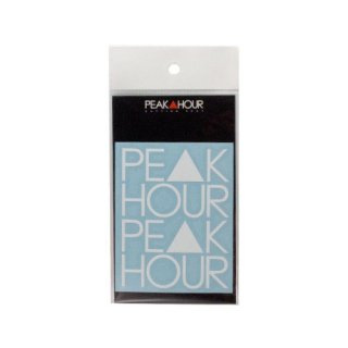 'PE▲K HOUR' Cutting Sticker [WHITE - S]