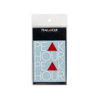 'PE▲K HOUR' Cutting Sticker [WHITE×RED - S]