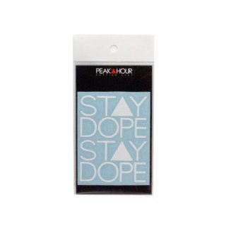 'ST▲Y DOPE' Cutting Sticker [WHITE - S]
