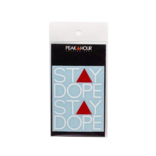 'ST▲Y DOPE' Cutting Sticker [WHITE×RED - S]