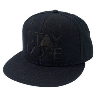'ST▲Y DOPE-All Black' Snapback Cap [BLACK]