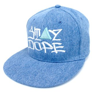 'ST▲Y DOPE / AMES Model' Denim Snapback Cap [LIGHT BLUE]