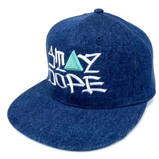 'ST▲Y DOPE / AMES Model' Denim Snapback Cap [INDIGO BLUE]