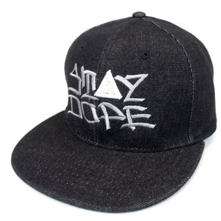 'ST▲Y DOPE / AMES Model' Denim Snapback Cap [BLACK]