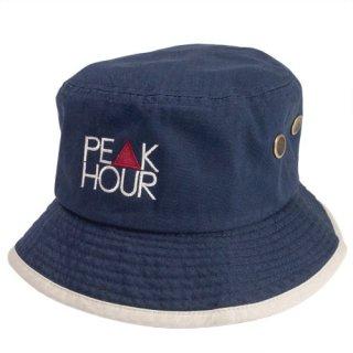 'PE▲K HOUR' 2tone Bucket Hat [NAVY×BEIGE]