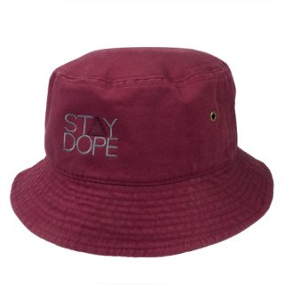 'ST▲Y DOPE-SHADOW' Bucket Hat [BURGUNDY]