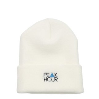 'PE▲K HOUR BLUE' Beanie Cap [WHITE]