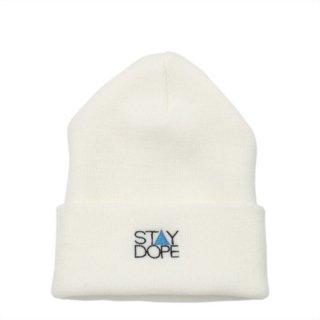 'ST▲Y DOPE BLUE' Beanie Cap [WHITE]