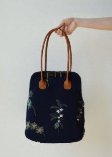 A4 BAG【果実花刺繍 】