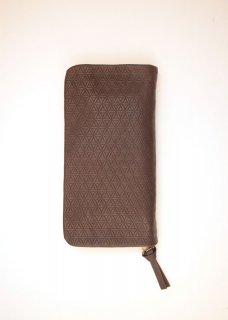 天然なめし革 ファスナー財布(柄)