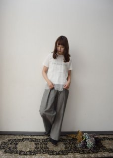 Tuck waist wide pants