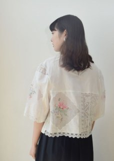 Tablecloth remake blouse