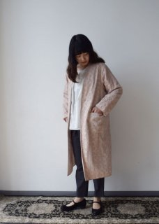 Tulle embroidery coat