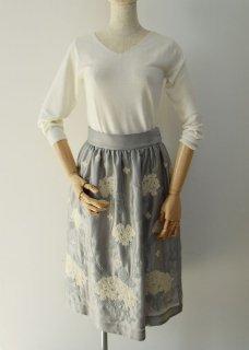「Hydrangea」embroidery skirt