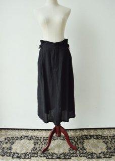 ベルギーリネン生地のサイドベルトスカート
