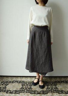 やま野衣のリネン重ね合わせスカート