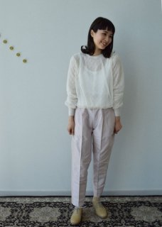 Lace pattern reversible pullover