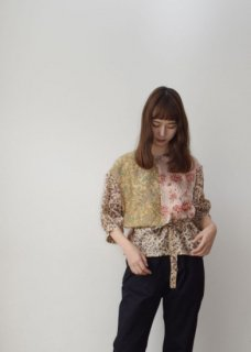 Silk patchwork blouse