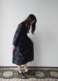 【MORI 1836】刺繍生地のワンピースドレス