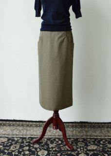 コットンロングタイトスカート