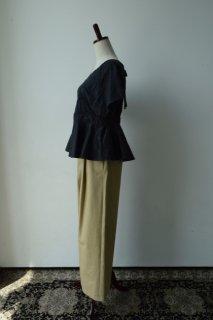 スワトウ刺繍ハンカチーフリメイクブラウス