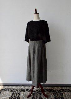 【cabinet限定】ベルギーリネン生地のサイドベルトスカート