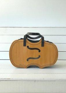ウッドバッグ バイオリン(音符刺繍)