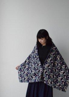 庭椿刺繍生地のストール