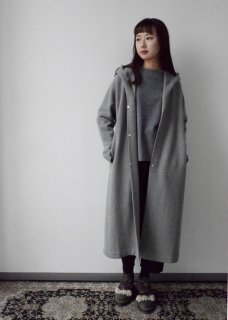 press wool hooded coat