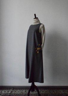 ウール~chamomile~刺繍ワンピース