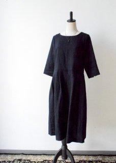 【cabinet別注】ベルギーリネン生地のワンピースドレス