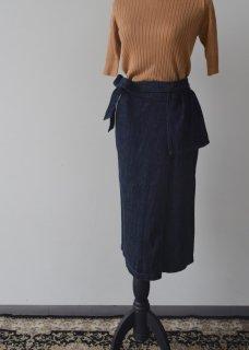 フラップデニムスカート