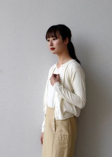 high gauge cotton cardigan
